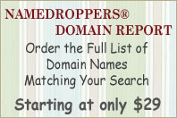 Namedroppers Domain Report