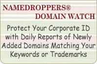 Namedroppers Domain Watch